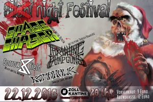 Silent Night Festival – mit Space Chaser, Thrashing Pumpguns, Sorrowfield, Komahawk